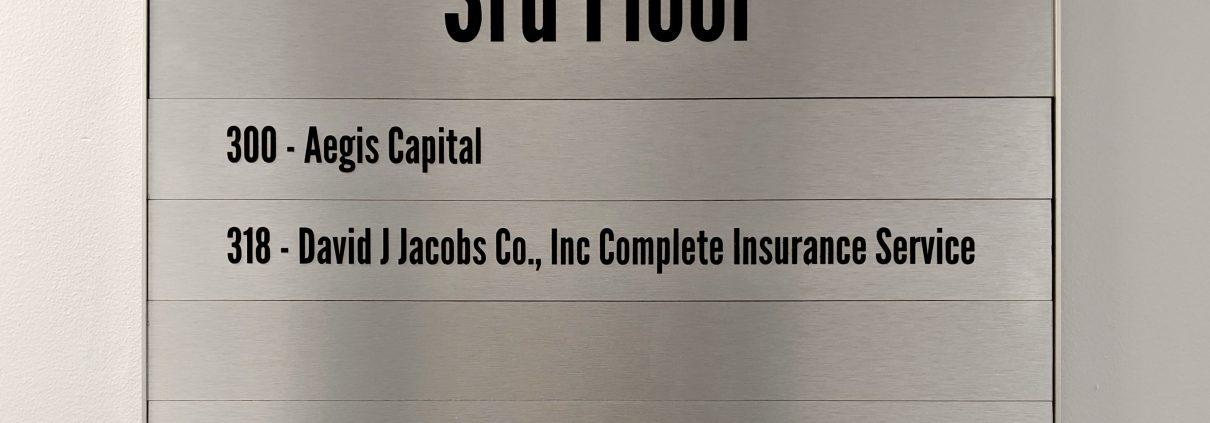 floor directory interior brushed aluminum