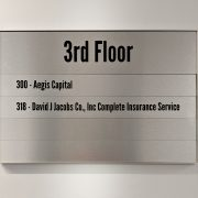 floor directory interior brushed aluminum