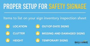 safety signage inventory list