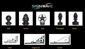 Ornamental Post Toppers and Sign Brackets