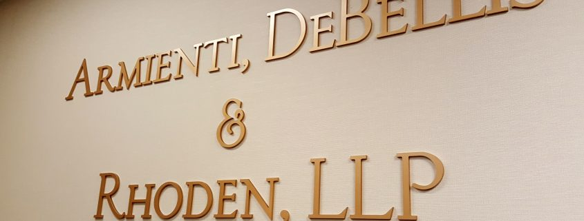 gold metallic dimensional letters