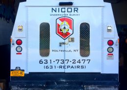 printed cut vinyl on truck rear doors